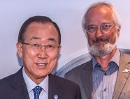 Klaus Milke mit Ban Ki-moon
